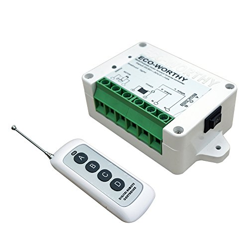 ECO-WORTHY Wireless Motor Controller, Wireless Remote Positive Inversion Control Kit for Linear Actuator, Forward Reverse Remote Control System
