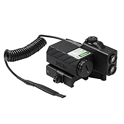 NcStar VLGSNVQRB Offset Green Laser Designator with Navigation LEDs, Black by Green Supply