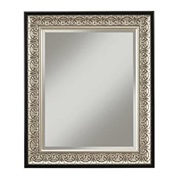 This item Sandberg Furniture 16017 Monaco Wall Mirror Antique Silver Black 36  X 30. Amazon com  Sandberg Furniture 16017 Monaco Wall Mirror Antique