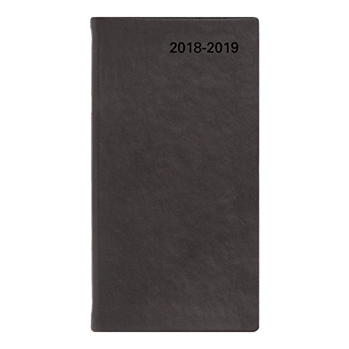 Letts 2018-2019 Verona, weekly Appointment Book/Academic Planner, Compact (6 x 3.125), Week To View diary, July 2018 to August 2019, Black (C39NUVBK-19) (Weekly Dated Refills Appointment)