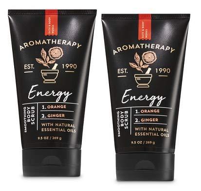 (Bath and Body Works 2 Pack Energy Orange & Ginger Aromatherapy Smoothing Body Scrub 9.5 Oz.)