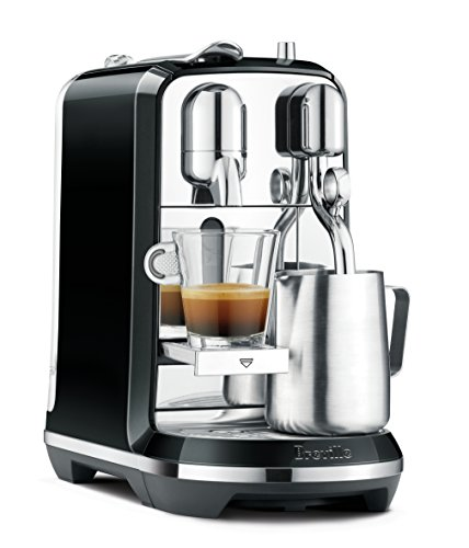 (Breville Nespresso Creatista Single Serve Espresso Machine with Milk Auto Steam Wand, Black)