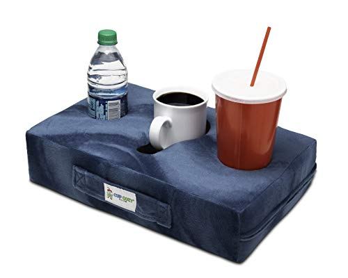 Cup Cozy Pillow (Teal) As Seen on TV The World's BEST Cup Holder. Keep your drinks close and prevent spills. Use it anywhere-Couch, floor, bed, man cave, car, RV, park, beach and more! ()