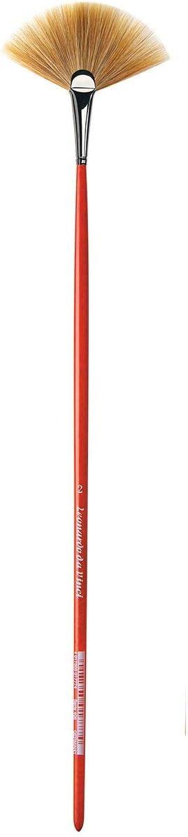 Extra Short Hog Bristle with Maroon Handle Size 3 da Vinci Varnish /& Priming Series 433 Fan Blender Brush