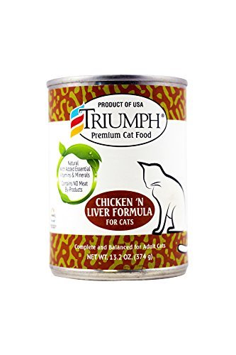 Triumph Chicken And Liver Canned Cat Food, Case Of 12, 13.2