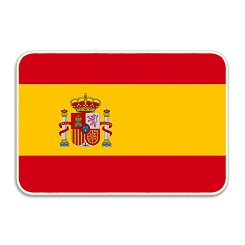 Flag Of Spain Fancy Doormat Accent Non-Slip Rug For Office by PlayA