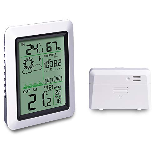 ECOWITT WH0310 Wireless Weather Station Digital Indoor Thermometer Hygrometer Humidity Monitor with Multi-Channel Temperature Sensor
