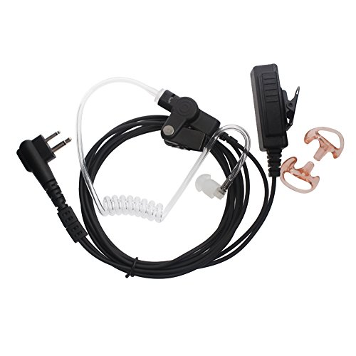 (AOER 2-Wire Coil Earbud Two-Way Radio Surveillance Kit for Motorola 2-Pin Radios CP185 CP200 CP300 CLS Series DTR Series RDV Series RDX Series RM Series)