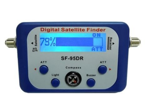 AGPtek Digital Satellite Signal Finder for Dish Network Directv FTA with Compass and Audio Tone by AGPTEK