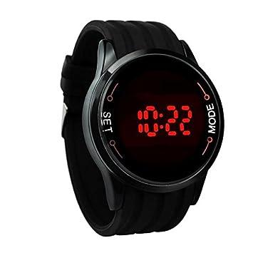 Relojes Hombre Deportivos 💝💞 Yesmile Moda Impermeable Reloj para Hombre Pantalla táctil LED Fecha Relojes Reloj de Pulsera de Silicona Negro: Amazon.es: ...