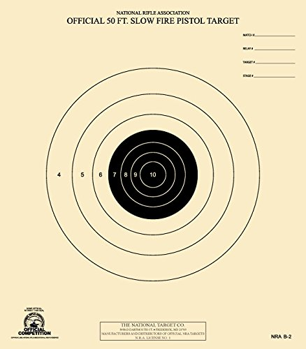 The National Target Company Official NRA Target, B-2, 50 Ft. Slow Fire Pistol, Pack of 100 from The National Target Company