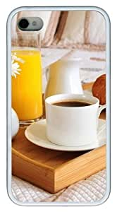 Cup Of Tea TPU White Case for iphone 4S/4