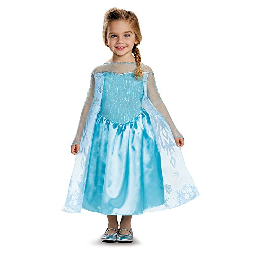 [Elsa Toddler Classic Costume, Medium (3T-4T)] (Elsa Dresses For Halloween)