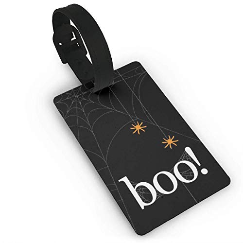 HappyToiletLidCoverX Luggage Tag Happy Halloween Boo Luggage Tag Suitcase Suitcase Label Bag Travel PVC Size 2.2'' X 3.7'']()