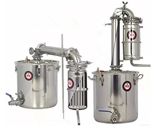 Welljun New 45L Transformer Wine Maker Brew Kit Alcohol Distiller Household Stainless Steel by Welljun