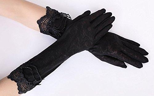 formanism エレガント レース使い 夏用 紫外線カット 外出 日焼け防止 サマー手袋 レディース (F)