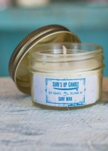 d212ba01b90f Surf's Up Mini Mason Jar Single Wick Soy Candle (Surf Wax): Amazon.co.uk:  Kitchen & Home