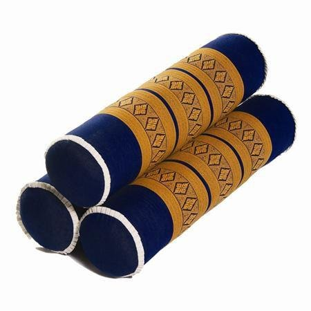 N R G Thai Massage Bolsters, set of 3-23''L x 5.5''D – Color Teal & Gray - Thai Bolsters makes great addition to your Mattress Cushion Pillow for Massage, Yoga and Meditation by N R G