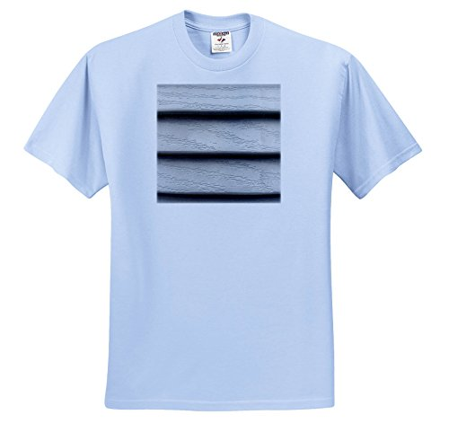3dRose TDSwhite - Miscellaneous Photography - Vinyl Siding Slats - T-Shirts - Light Blue Infant Lap-Shoulder Tee (6M) (ts_285442_74)