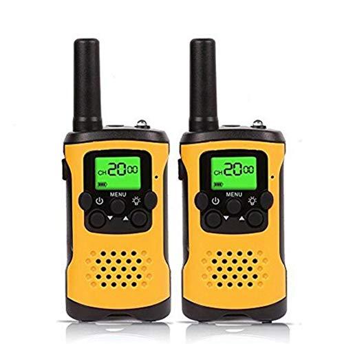 キッズウォーキートーキー、22チャンネルFRS / GMRSラジオ、懐中電灯と液晶画面を備えた4マイルレンジの双方向ラジオ。