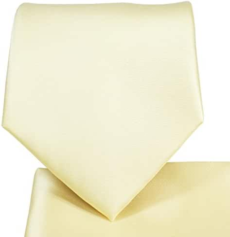 Solid Satin Tie and Square Set by Paul Malone