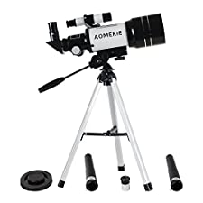 Aomekie AO2001 300x70mm Tabletop Refractor Astronomy Telescope for Beginners with Tripod, Kids Gift