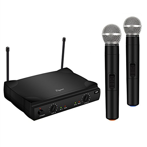 ELEGIANT VHF Wireless Microphone System with 2 Handheld Mics