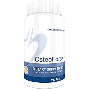 Designs for Health - OsteoForce - Bioavailable Bone Support Formula + Vitamin D + C + K + TRAACS chelated minerals, 240 Tablets
