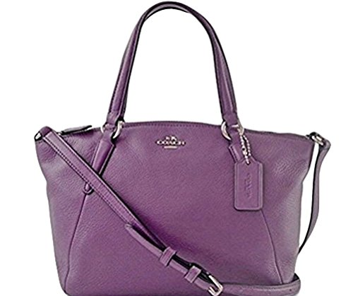 Coach Leather Small Kelsey Cross Body Bag (Berry)