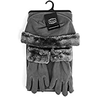 Girl's 10-16 Faux Fur Trimmed Matching Gloves and Scarf Winter Set