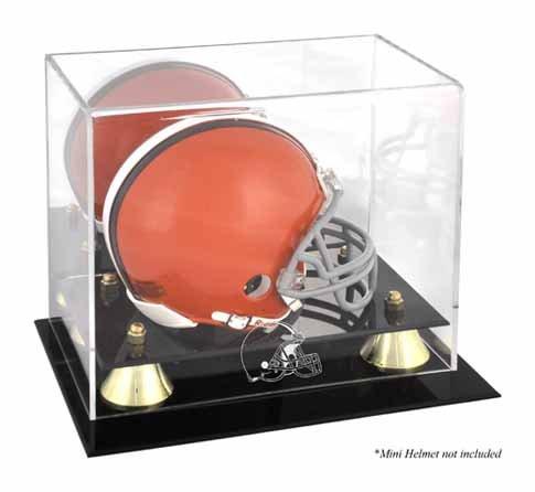 Mounted Memories Cleveland Browns Mini Helmet Display Case ()