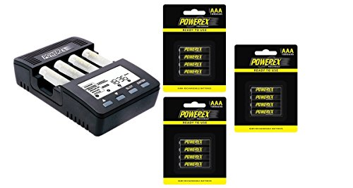 - Powerex MH-C9000 WizardOne Charger-Analyzer for 4 AA/AAA NiMH/NiCD Batteries Bundle with 3x 4-Pack AAA Batteries