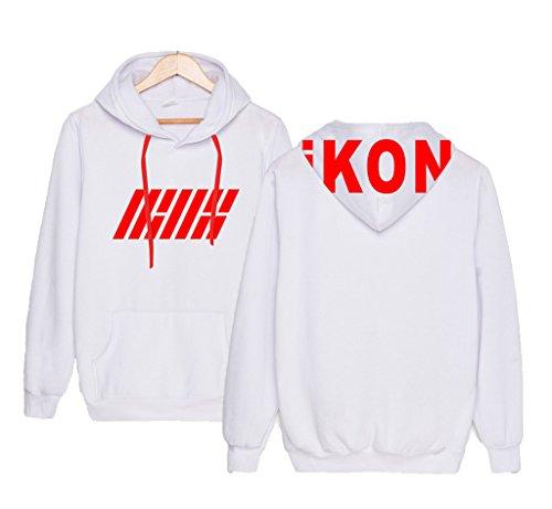 IKON Budoukan Concert Same Sweater Yun Hyeong B.I Bobby Hoodie Unisex Sweatshirt M White