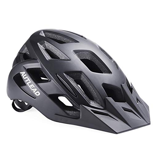 AUTLEAD Bike Helmet, Cycling Helmet with Removable Visor Flow Vents Adjustable Dial and Detachable Liner CPSC Safety Certified for Men & Women(22-24inches)