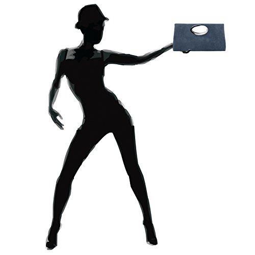 CASPAR TL699 Bolso de Mano Fiesta para Mujer / XXL Clutch Grande de Piel de Ante Azul Oscuro