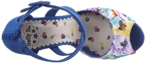 Dolly Do Sandal DD52219 - Sandalias de lona para mujer Azul (Blau (purple 03))