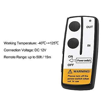 Walmeck Winch Wireless Remote Control Set 12V/15A for Jeep ATV Truck Winch