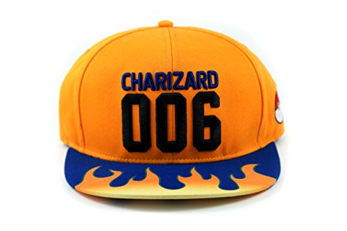 Pokemon Charizard Limited Edition Exclusive Custom Unique Snapback Sublimation Hat Cap - Cosplay or Style (One Size Fits ()