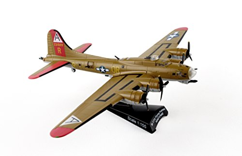 Flying Bomber Fortress B-17g - Postage Stamp PS5402-3 USAF B-17G Nine O Nine 1:155 Scale Flying Fortress Diecast Display Model with Stand