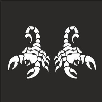 676556e2689a Amazon.com  2x (Left   Right Side) Scorpion Zodiac Helmet Gas Tank  Motorcycle Decal Sticker M1 3