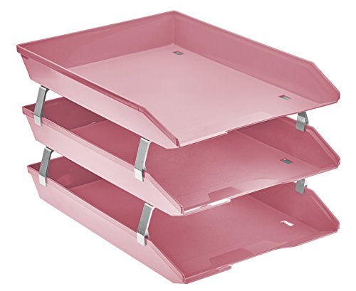 Acrimet Facility Triple Letter Tray Frontal (Solid Pink Color)