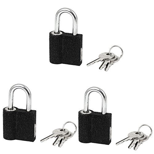 uxcell Door Cabinet Box Metal Locking Safety Padlock 45mm Height 3pcs w Keys by uxcell