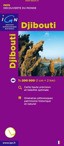 Djibouti Travel Map IGN 1:200K (English and French Edition)