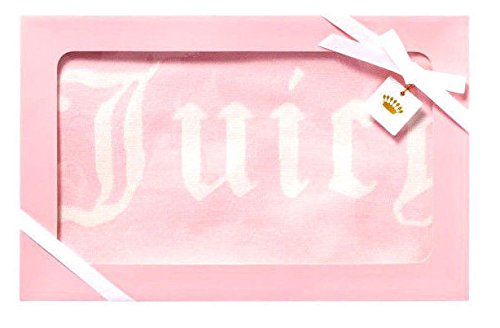 Juicy Couture Baby Girl Sweater Blanket, Pink With Angel 'Juicy' Lettering And Polka Dots