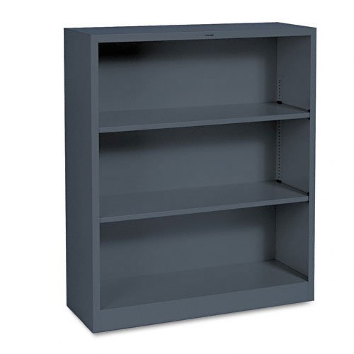 HON Company HONS42ABCS 3 Shelf Metal Bookcase- 34-.50in.Wx12-.63in.Dx41in.H- Charcoal
