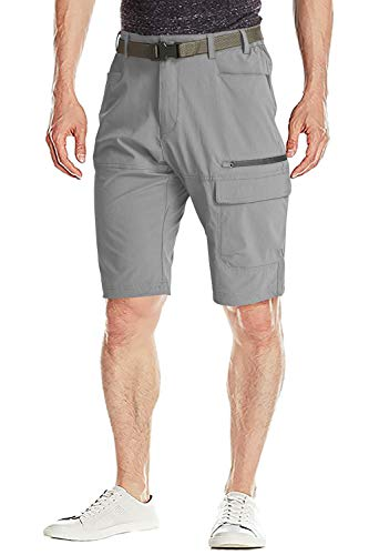 FASKUNOIE Men's Cargo Shorts Outdoors Climbing Short Shorts with Zip Pockets Light ()
