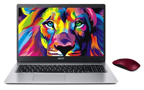 "Acer Aspire Laptop, 15.6"" Full HD Screen, AMD Ryzen 5-3500U Processor up to 3.7GHz, 12GB RAM, 512GB PCIe SSD, Webcam, Wireless-AC, HDMI, Win 10 Home, Silver, Wireless Mouse"