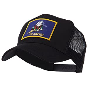 US Navy Military Patched Mesh Cap - Seabees 3 W43S67F