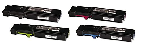 Xerox Replacement Parts - TopTech Toners Compatible Toner Cartridges Replacement for Xerox Phaser 6600 6600N 6600DN WorkCentre 6605N 6605DN - 106R02228 106R02225 106R02226 106R02227 Set- (4 Pack)