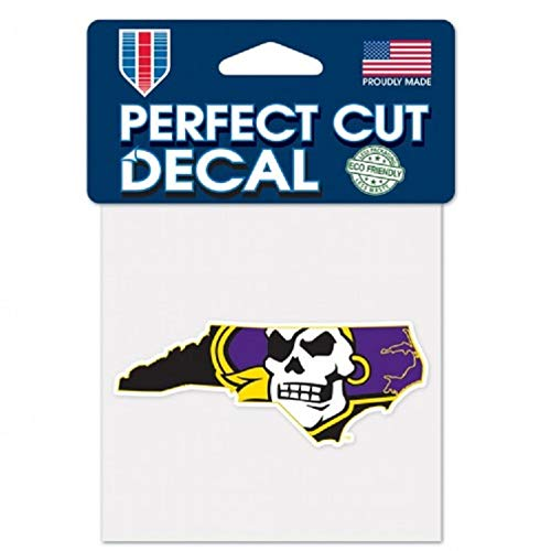 WinCraft NCAA East Carolina Pirates 4x4 Perfect Cut Color Decal, One Size, Team Color